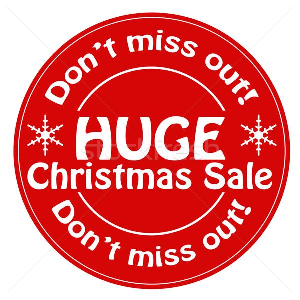 огромный Рождества продажи красный штампа текста Сток-фото © carmen2011