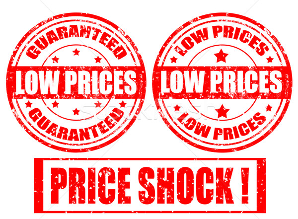 Stock photo: Low prices-set of stamps