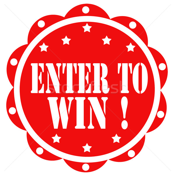 Enter To Win!-label Stock photo © carmen2011