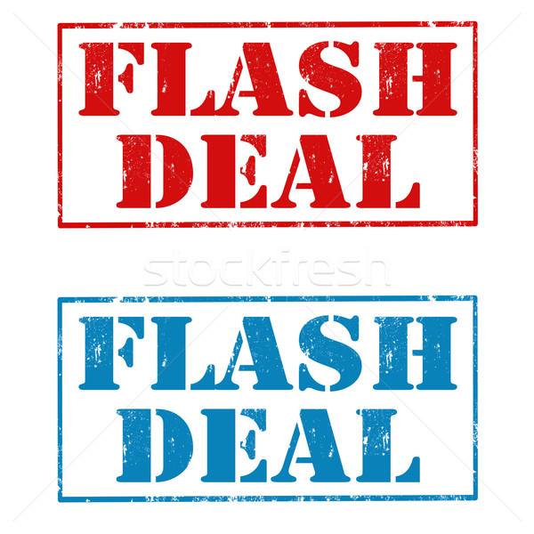 Flash tratar conjunto grunge borracha selos Foto stock © carmen2011