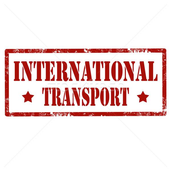 международных Гранж текста знак красный Сток-фото © carmen2011