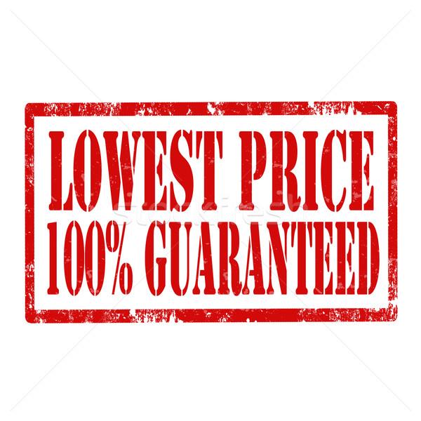 Lowest Price -stamp Stock photo © carmen2011