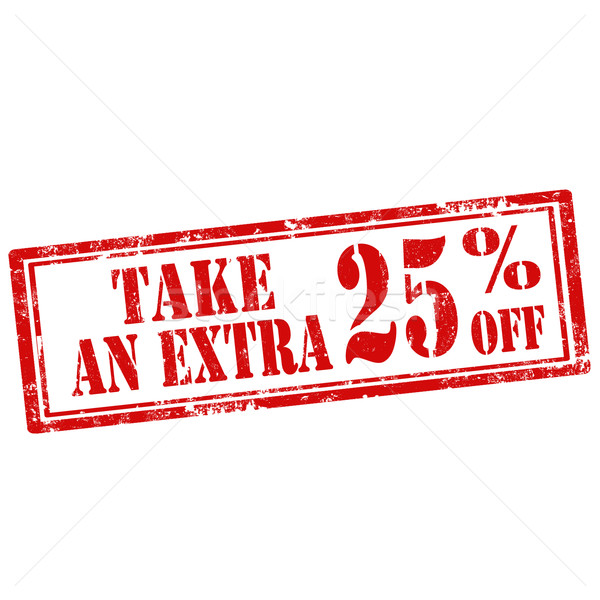 Stock photo: Take An Extra 25% Off-stamp