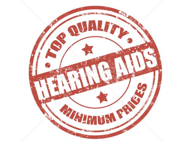 Hearing aids-stamp Stock photo © carmen2011