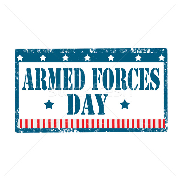 Armed Forces Day-stamp Stock photo © carmen2011