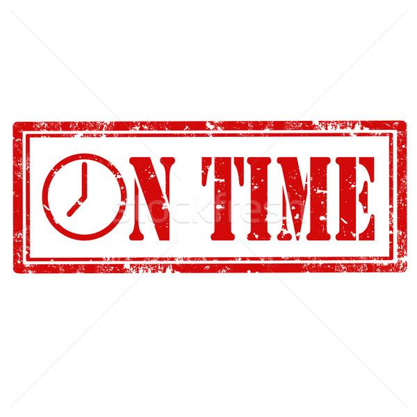 Absztrakt grunge pecsét szöveg óra idő Stock fotó © carmen2011