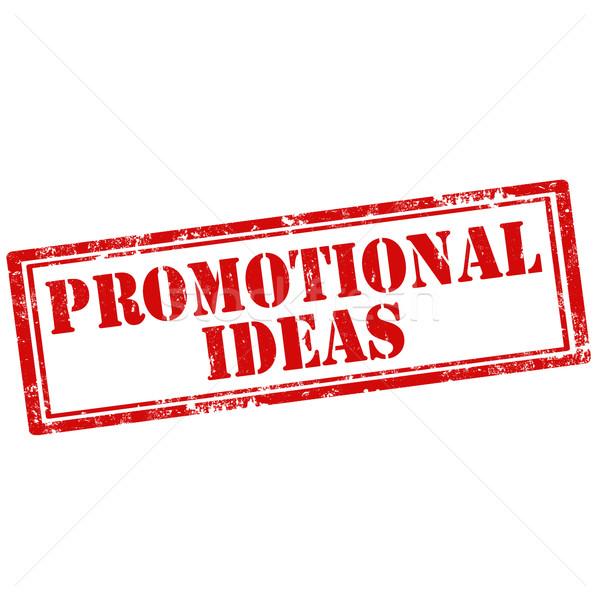 Promóciós ötletek grunge pecsét szöveg felirat Stock fotó © carmen2011