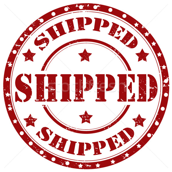 Shipped-stamp Stock photo © carmen2011