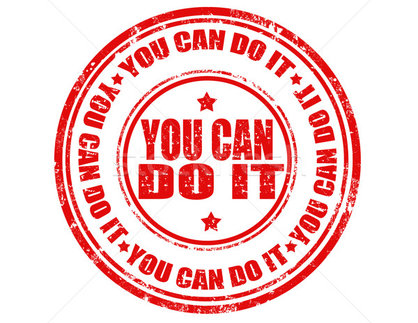 You can do it-stamp Stock photo © carmen2011