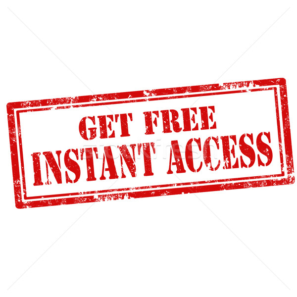 Get Free Instant Access-stamp Stock photo © carmen2011