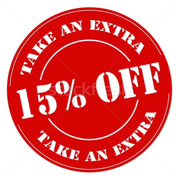 Elvesz extra 15 piros bélyeg szöveg Stock fotó © carmen2011