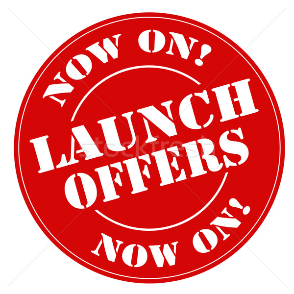 Launch Offers-stamp Stock photo © carmen2011