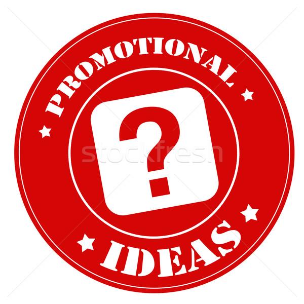 Promóciós ötletek piros bélyeg szöveg Stock fotó © carmen2011