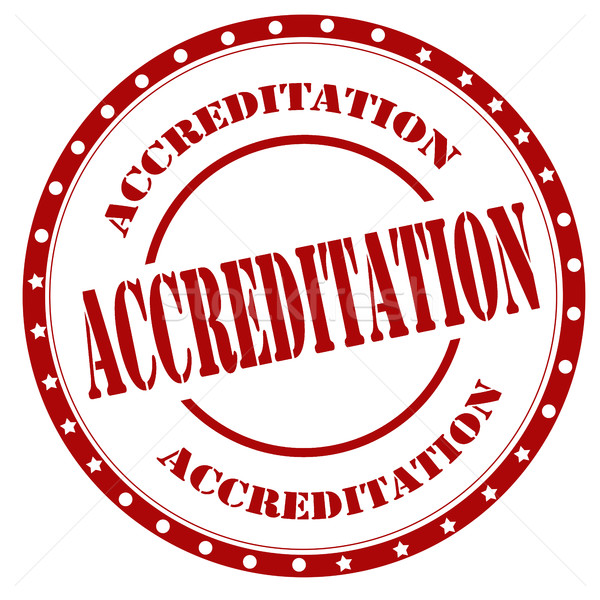 Accreditation-red stamp Stock photo © carmen2011