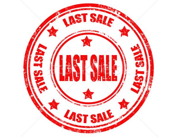 Utolsó grunge pecsét szöveg vásár csillag Stock fotó © carmen2011