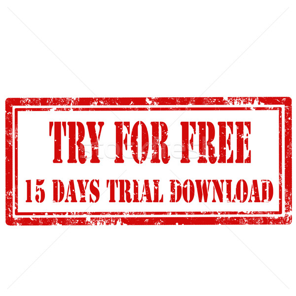 Try For Free-stamp Stock photo © carmen2011