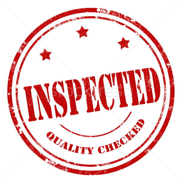 Inspected-red stamp Stock photo © carmen2011