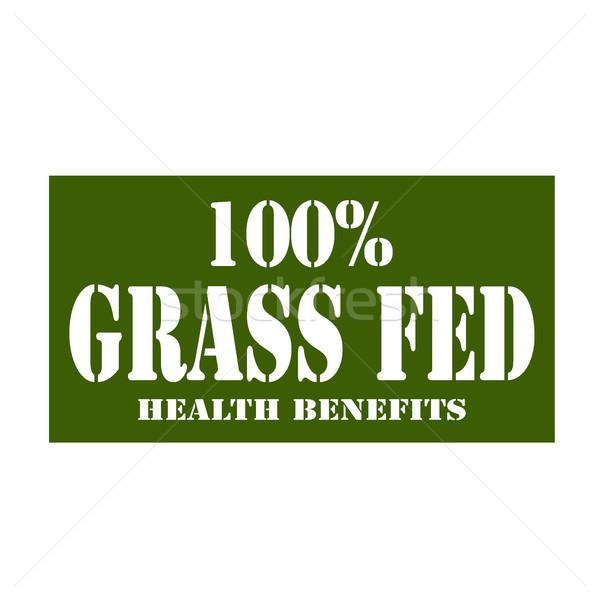 100% Grass Fed Stock photo © carmen2011