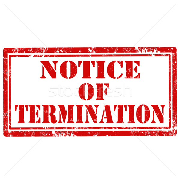 Notice Of Termination-stamp Stock photo © carmen2011