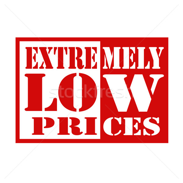 Extremely Low Prices Stock photo © carmen2011