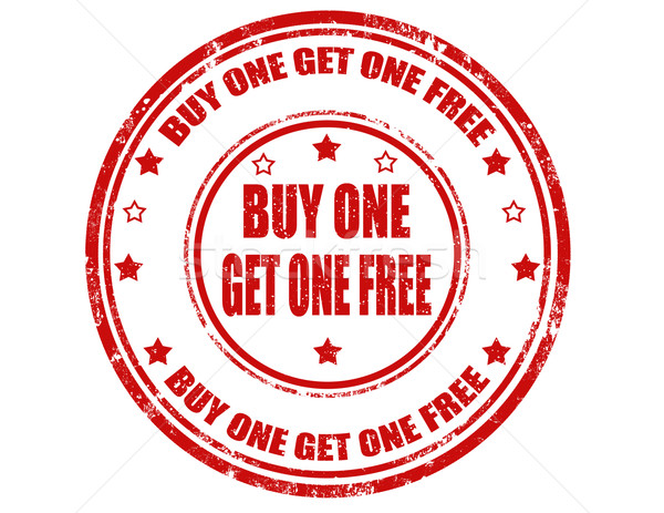 Buy one get one free-stamp Stock photo © carmen2011