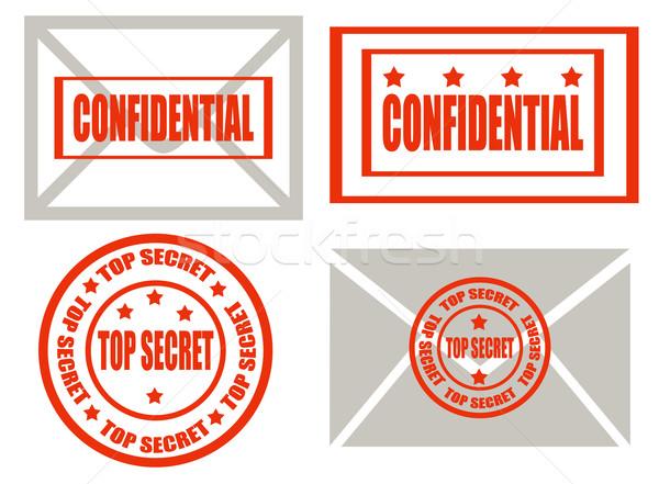 Top secret -stamps Stock photo © carmen2011