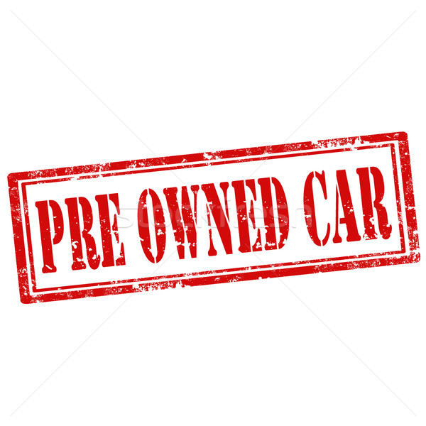 Stock photo: Pre Owned Car-stamp