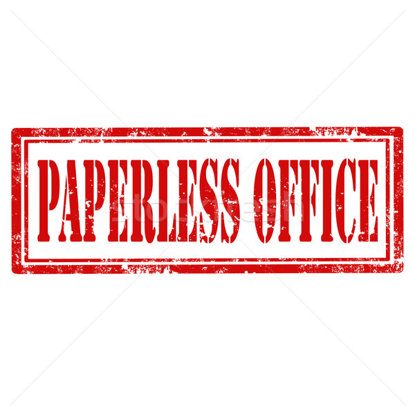 Paperless Office-stamp Stock photo © carmen2011