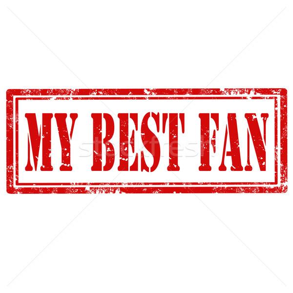 My Best Fan-stamp Stock photo © carmen2011