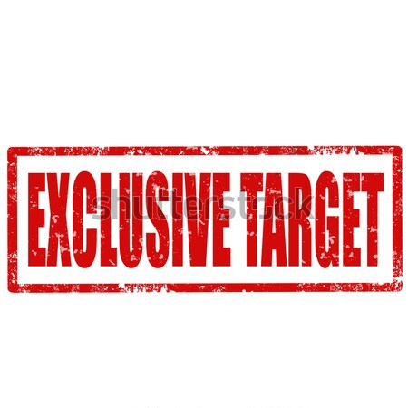 Exclusive Target-stamp Stock photo © carmen2011