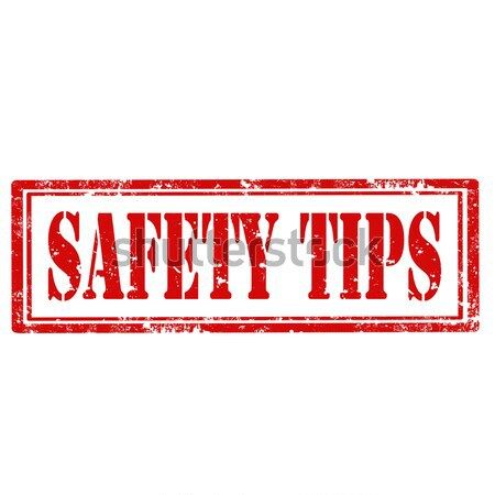 Stock photo: Safety Tips-stamp