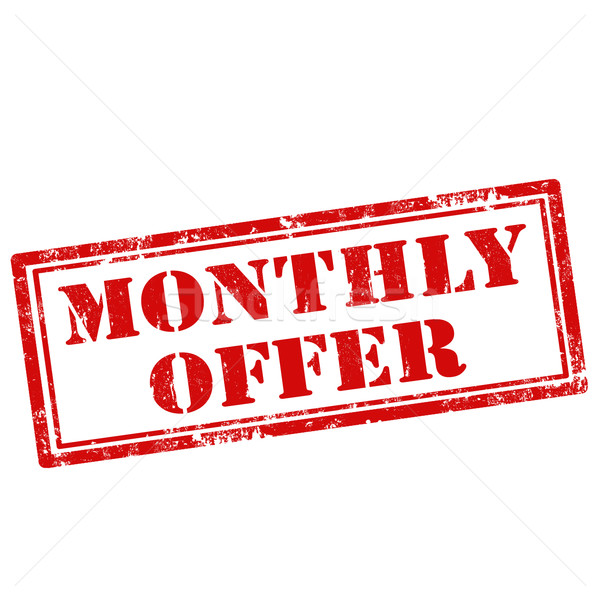 Monthly Offer-stamp Stock photo © carmen2011