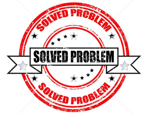 Solved problem-stamp Stock photo © carmen2011