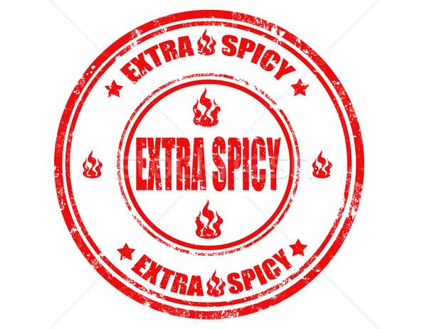Stock photo: Extra spicy-stamp