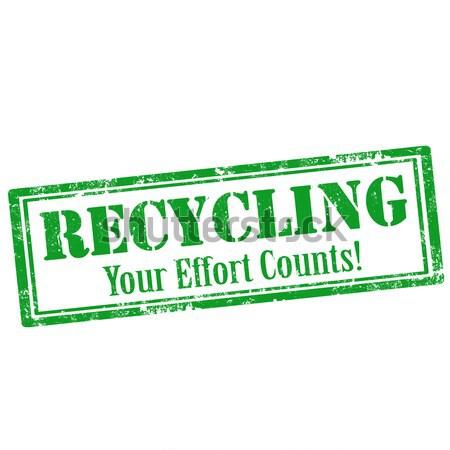 Grunge texto negócio poluição reciclagem Foto stock © carmen2011