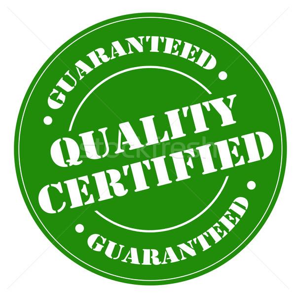 Minőség zöld bélyeg szöveg üzlet címke Stock fotó © carmen2011