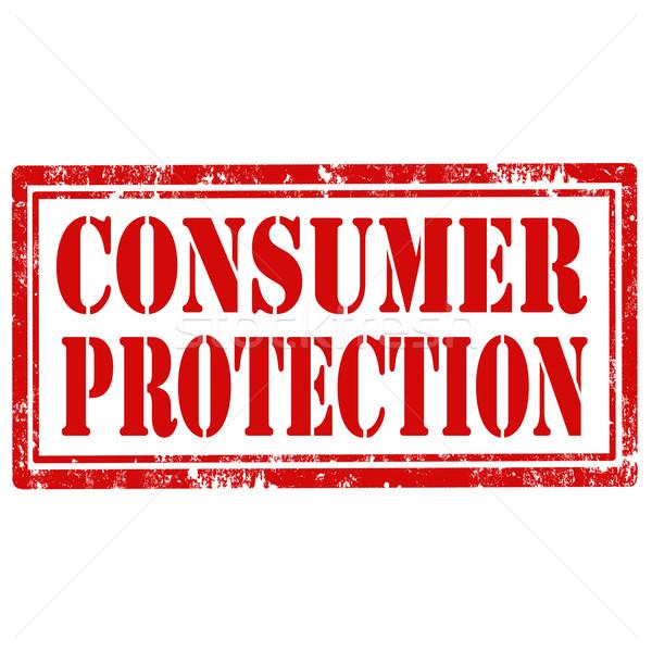 Consumatore protezione grunge testo segno Foto d'archivio © carmen2011