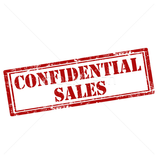 Confidential Sales-stamp Stock photo © carmen2011