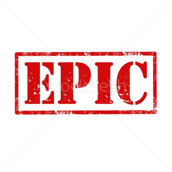 Epic-stamp Stock photo © carmen2011