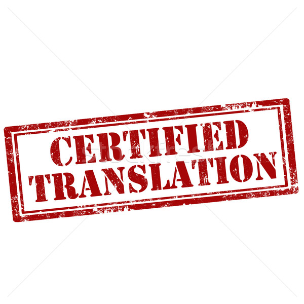 Stock photo: Certified Translation-stamp