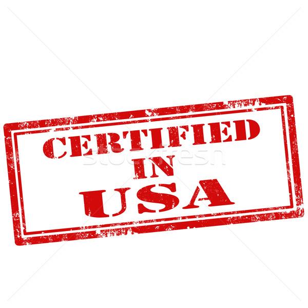 Certifié grunge texte qualité Amérique Photo stock © carmen2011