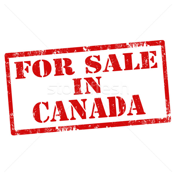 Vente Canada grunge texte affaires Photo stock © carmen2011