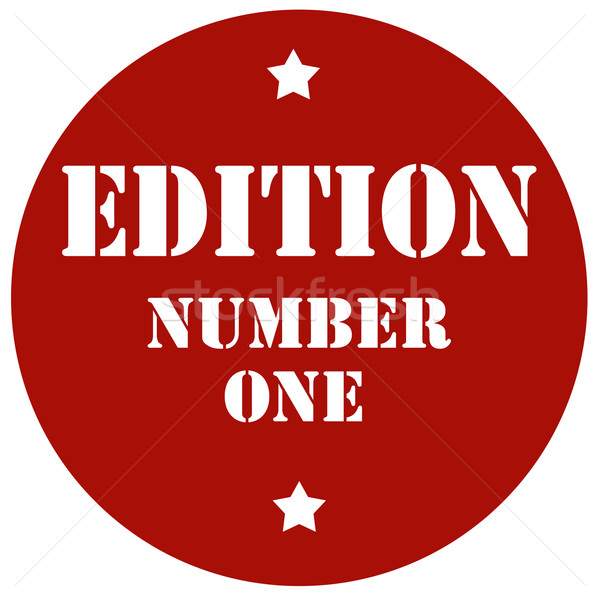 Edition Number One Stock photo © carmen2011