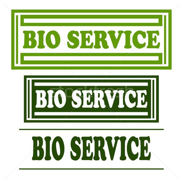 Foto stock: Bio · conjunto · selos · texto · carimbo