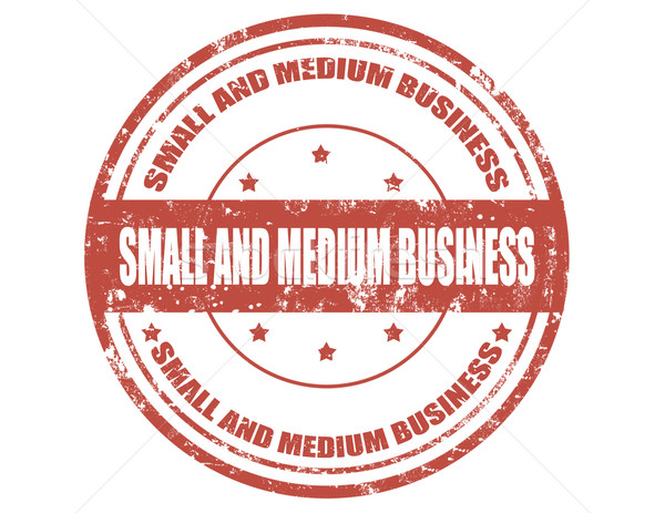 Small and medium business-stamp Stock photo © carmen2011