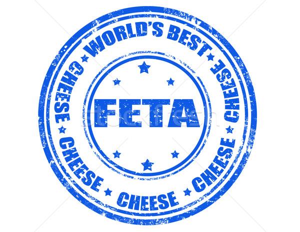 Feta cheese-stamp Stock photo © carmen2011