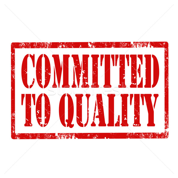 Committed To Quality-stamp Stock photo © carmen2011