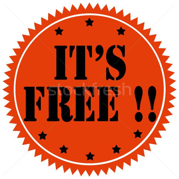It's Free!-label Stock photo © carmen2011
