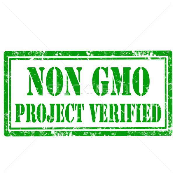 Non GMO-stamp Stock photo © carmen2011