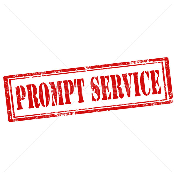 Prompt Service-stamp Stock photo © carmen2011